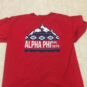 Alpha Phi Red Mountain Pocket Tee